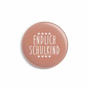 Button Endlich Schulkind