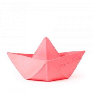 Badespielzeug Origami Boot pink