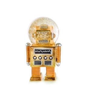 Glitzerkugel Roboter
