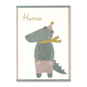 Postkarte Hurra Krokodil