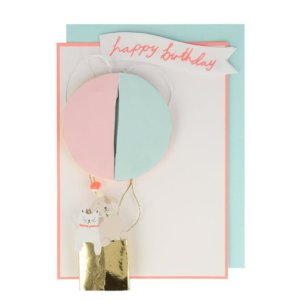 Klappkarte Heißluftballon