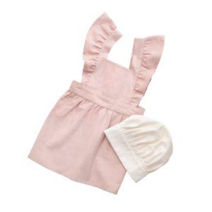 Kinderschürze und Kochmütze dusty pink