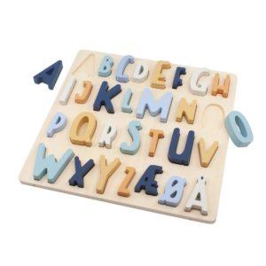 Holzpuzzle ABC denim blue