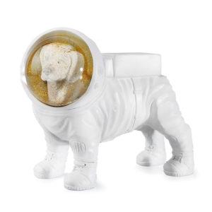Glitzerkugel Weltraumhund