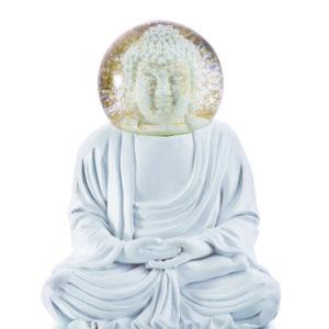 Glitzerkugel Buddha